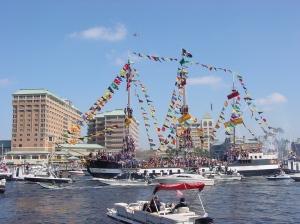 Gasparilla_Flagship_Invading_Tampa
